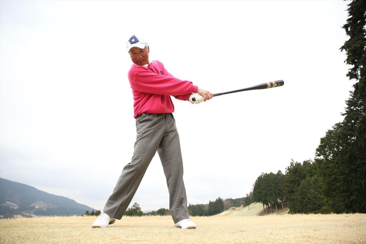画像: 「動きを体に覚えさせるのは、重めのバットを振るのが一番」。今でもこのバットは手放せないそうです。