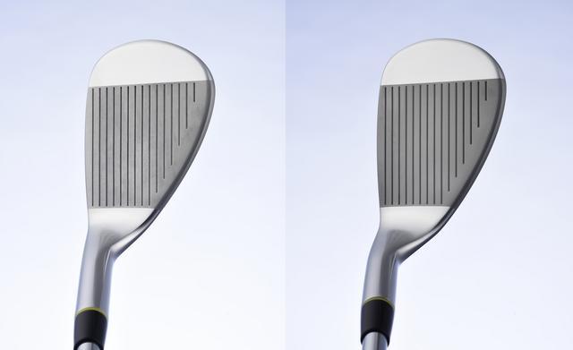 画像: 左がストレートネック、右がセミグースネック