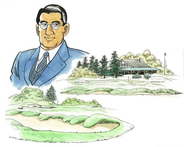 画像: 米国留学中にゴルフを学び、日本のゴルフ黎明期に選手、指導者、設計家として活躍。日本オープンゴルフ選手権の初代チャンピオンでもある(画・政岡稔也)