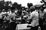 画像: 日本アマ選手権に6回優勝している中部銀次郎はその初優勝を広野で果たす。(昭和37年)