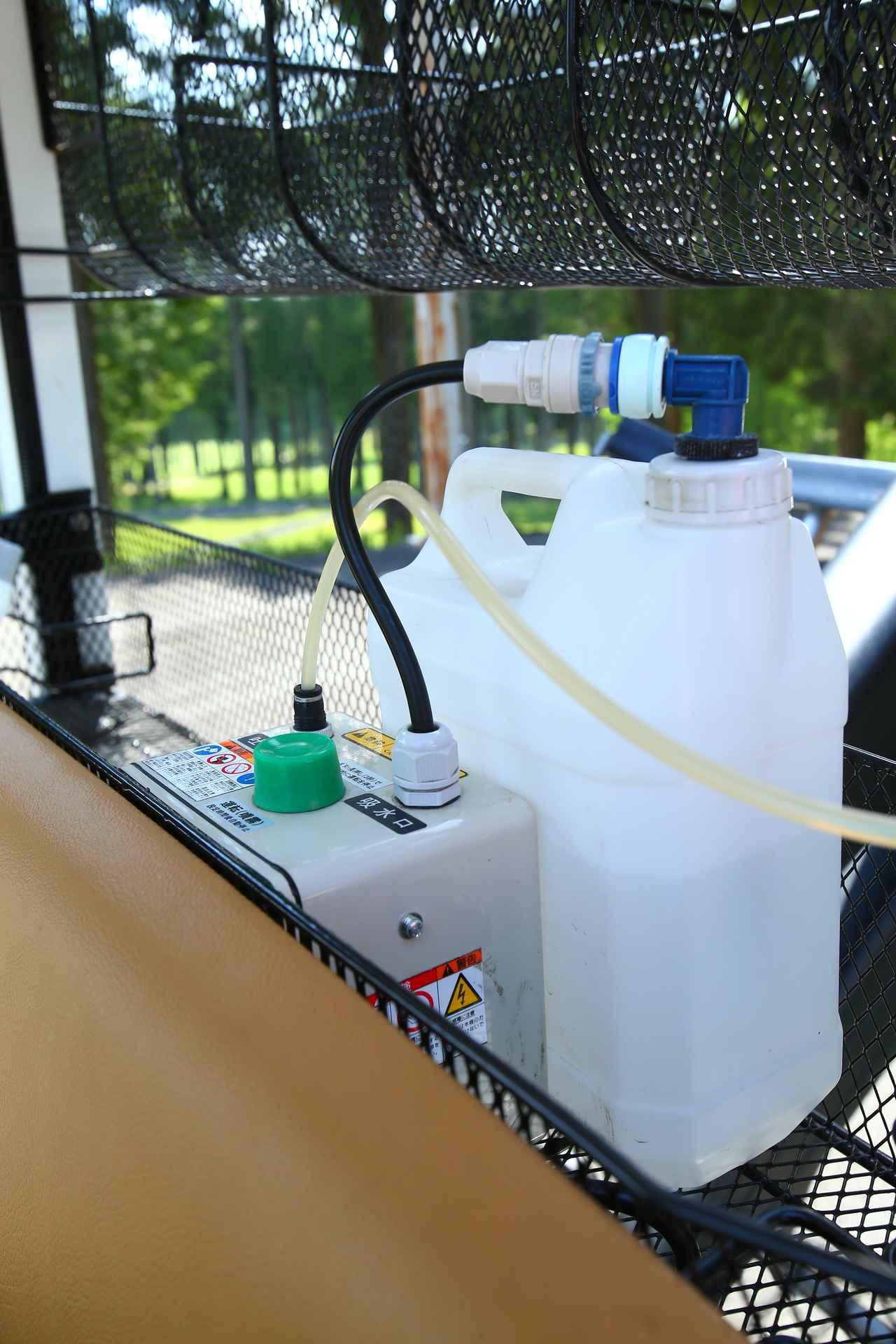 画像: このタンクに水を入れてボタンを押すと…
