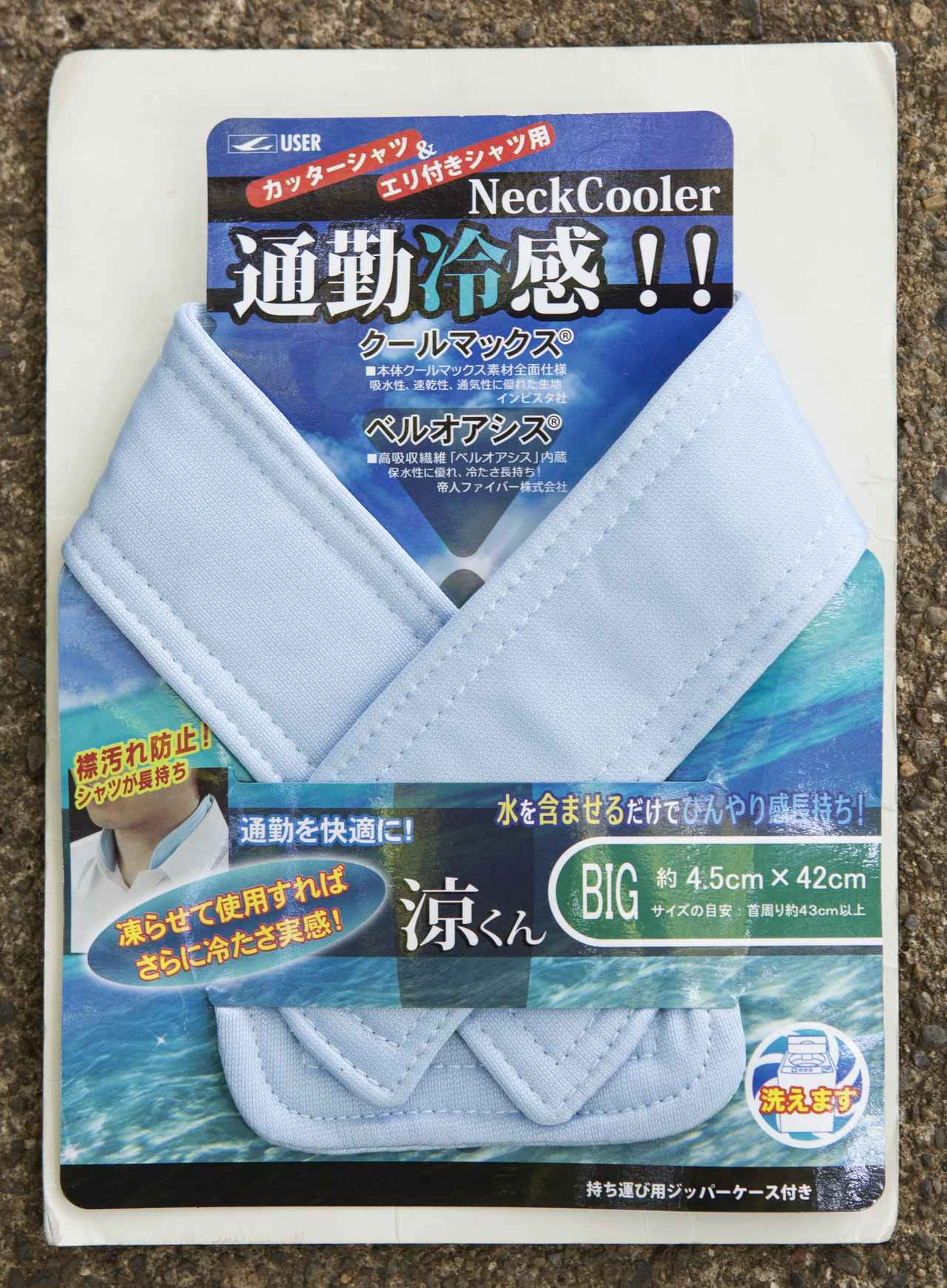 画像: 襟付きの服の内側につけられるタイプ