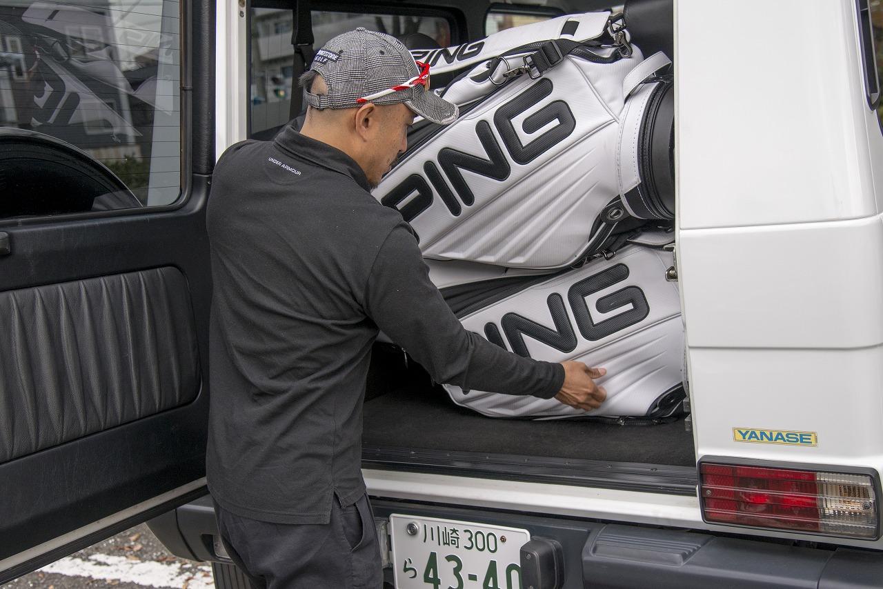 画像: 積み方①荷室に横積み