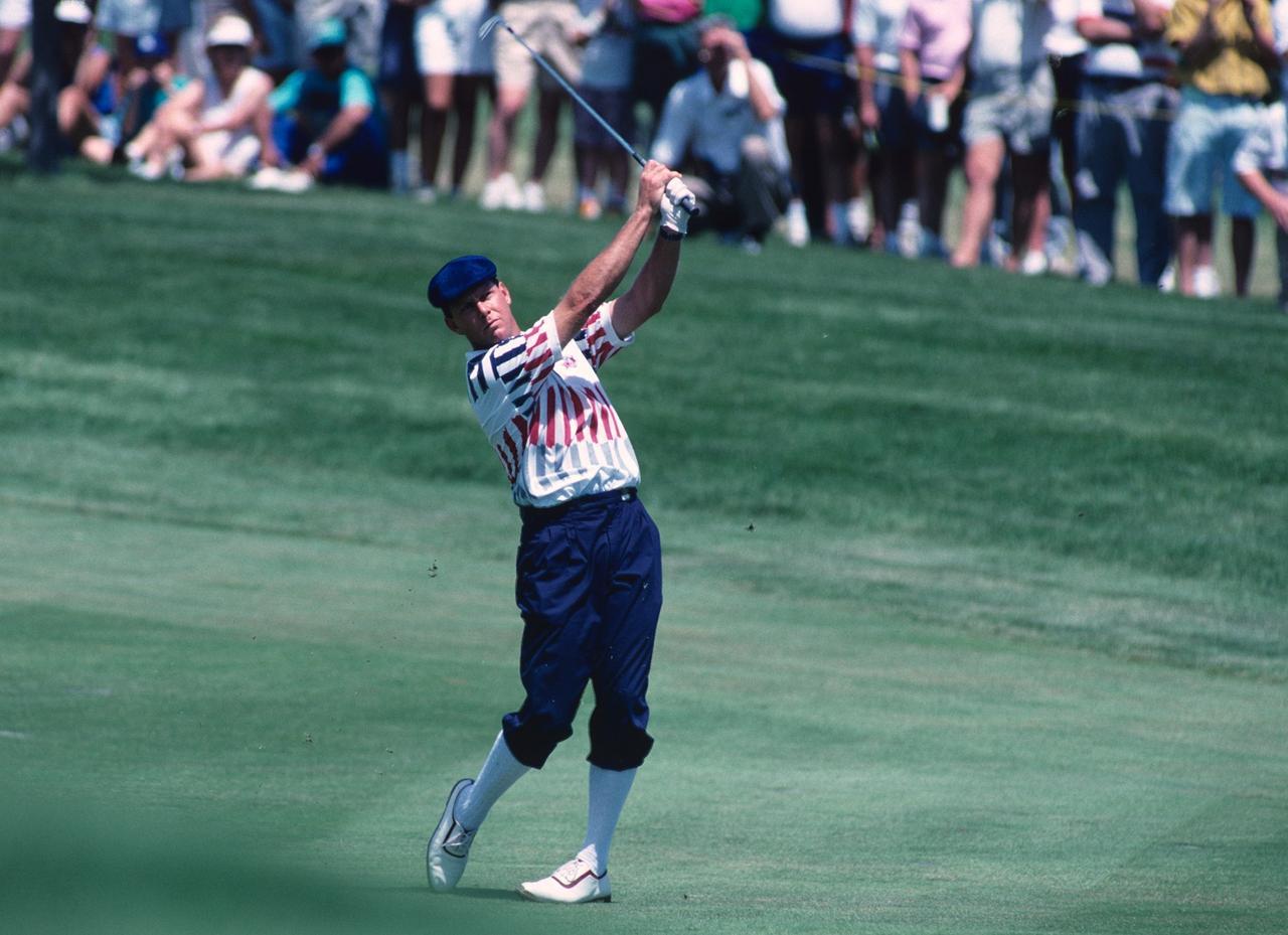 画像: 1991年の全米オープンで優勝。スコット・シンプソンをプレーオフで退けた