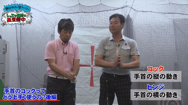 画像: コック:手首の縦の動き ヒンジ:手首の横の動き