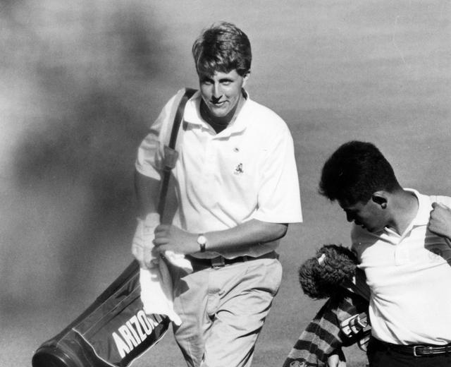 画像: 学生時代に来日したミケルソン。アマチュアとして米ツアー優勝を果たした