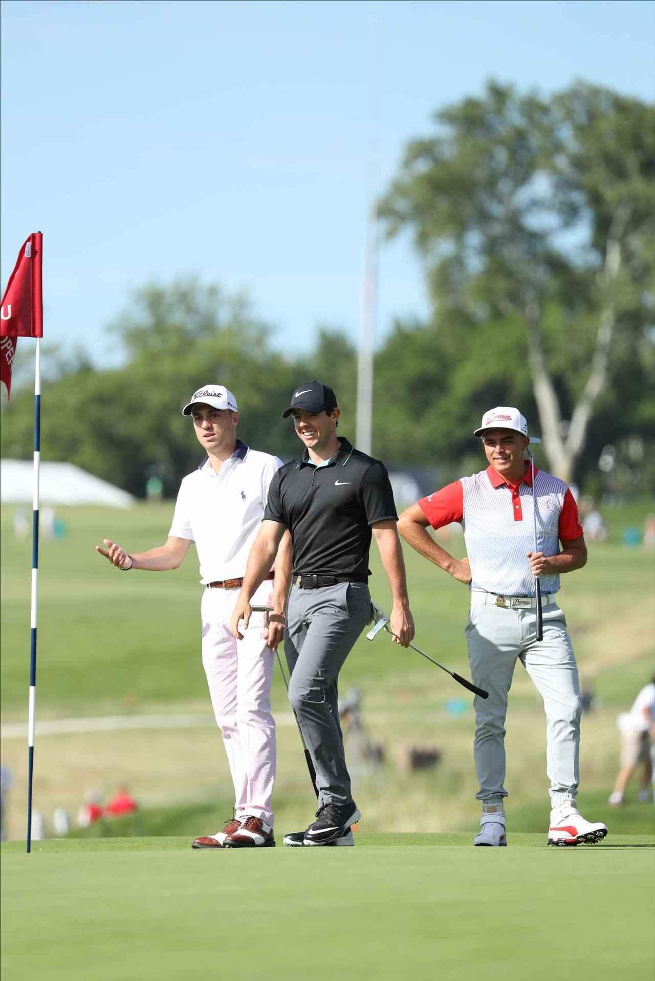 画像: 仲良しのファウラー、ジャスティン・トーマスとラウンド
