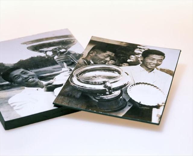 画像: 1965年に日本オープンにてローエストアマに輝いた時の写真。右写真の左は優勝者の橘田規プロ。中部銀次郎は翌年、同タイトルを獲ることになる