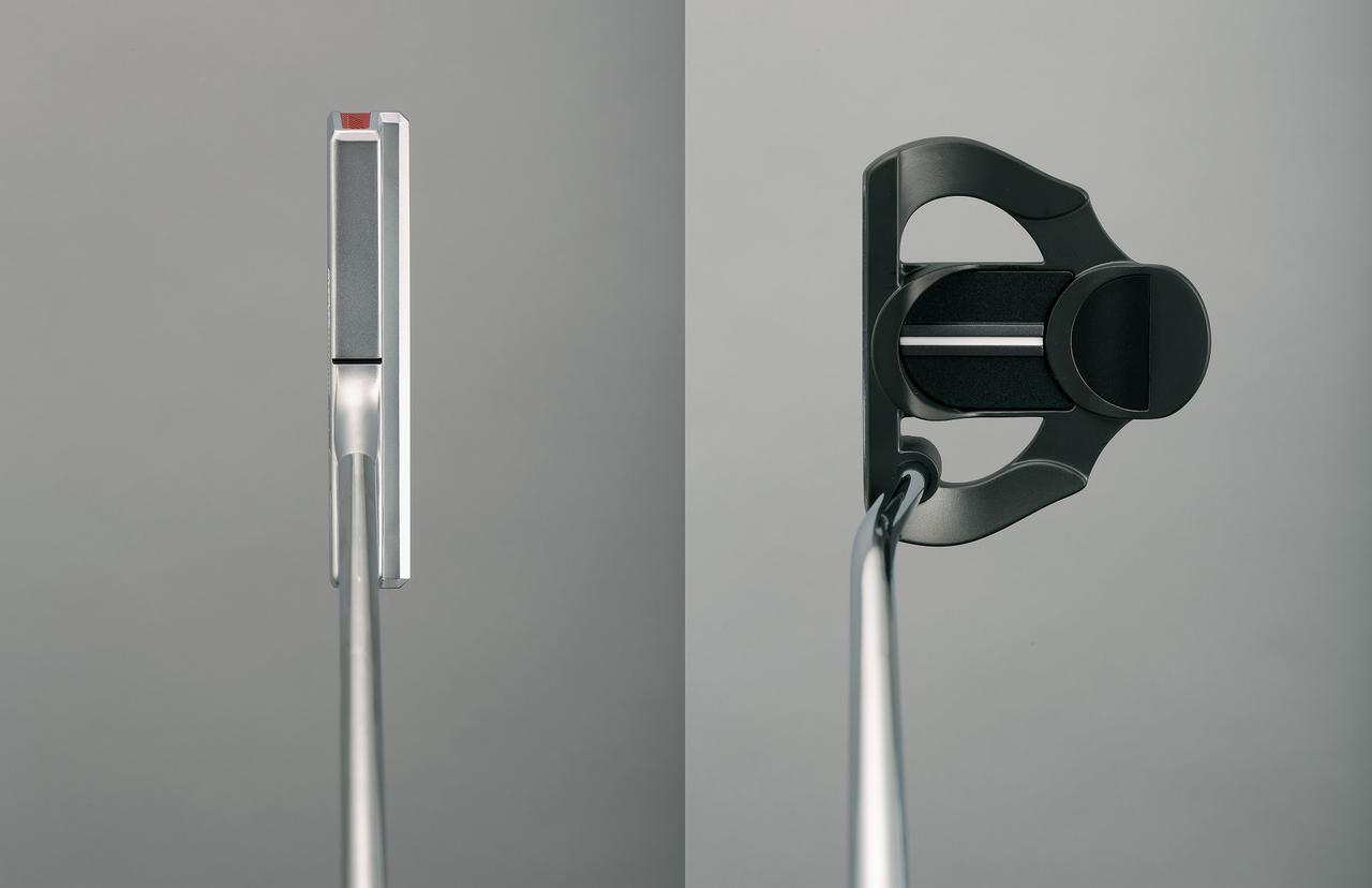 画像: 基本的に重心距離がゼロのT字型(左)は大型マレット(右)に比べ、芯を外した時にヘッドがブレやすい。反面、芯で打つ感覚を涵養するには適している