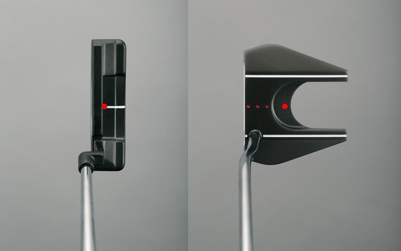 画像: ピン型ならフェース近く(左)、ネオマレット系なら深め(右)に重心がある。そこを真っすぐ動かそうとすると、どんなパターを使ってもストロークが安定しやすい