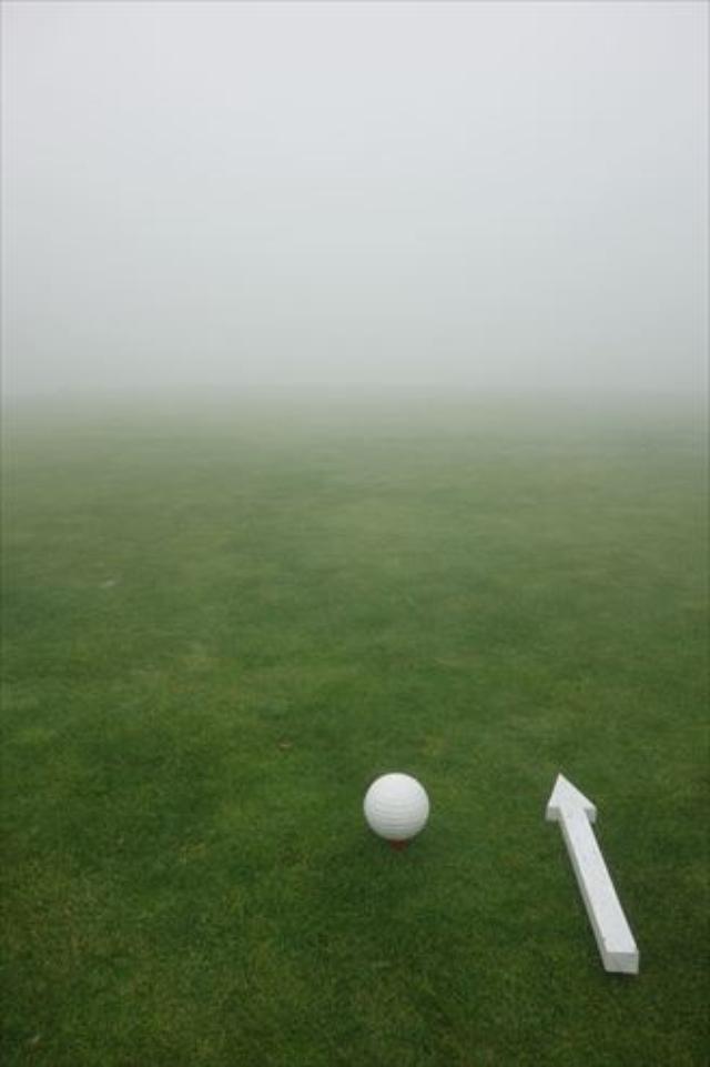 画像3: 霧のゴルフ、実は良い練習になる?
