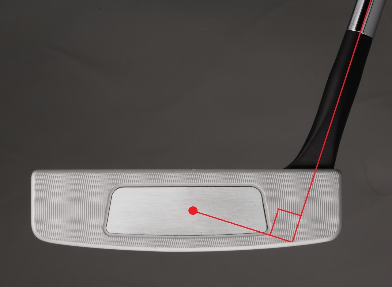 画像: ヒールからネックが立ち上がっているL字型は重心距離が約30ミリと長め