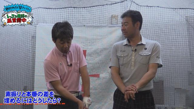 画像: 左:ゴルフバカイラストレーター野村タケオ 右:井上透プロコーチ