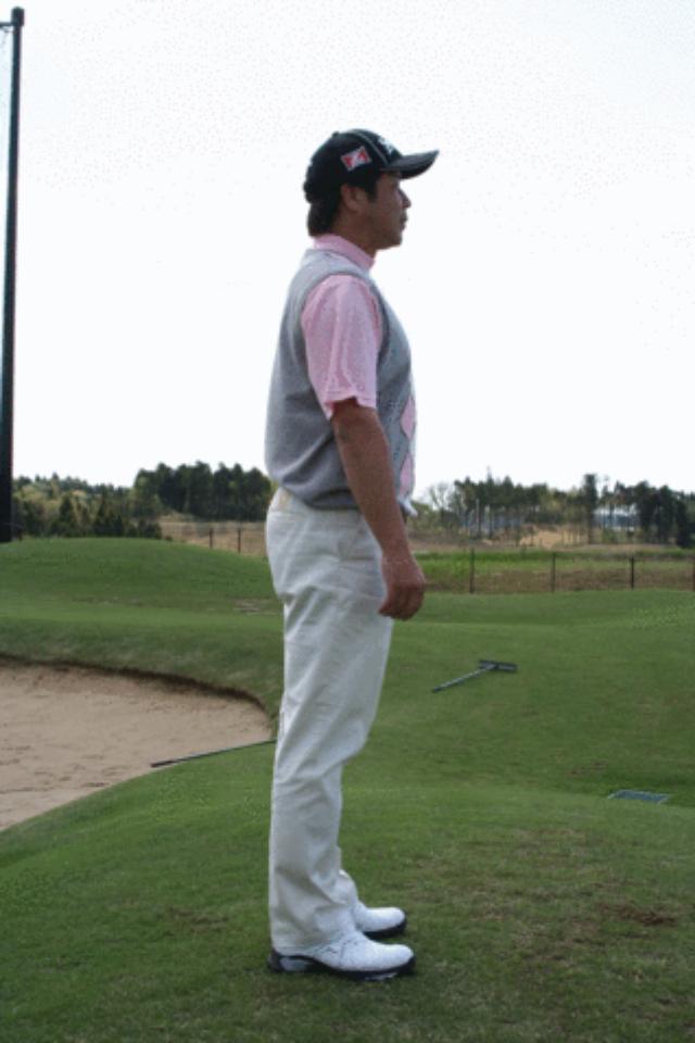 画像: 背骨を頚椎の上から下に向けて徐々に前屈していく