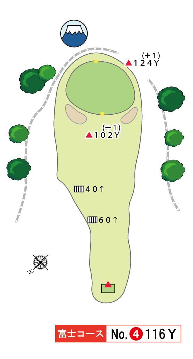 画像: 富士コース 4番 116Y