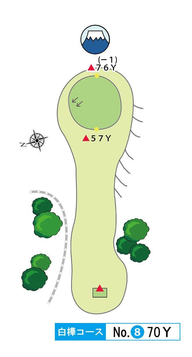 画像: 白樺コース 8番 70Y