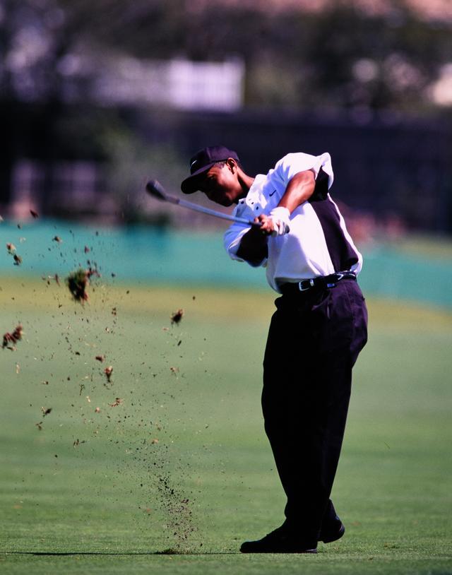 画像: タイガーは左ひじを抜くような動きでスティンガーショットを放つ