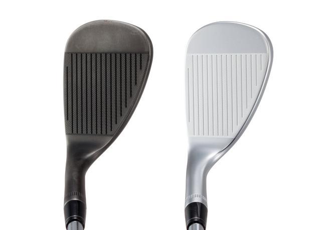 画像: 左がスレート仕上げ、右がミルキークロムメッキ