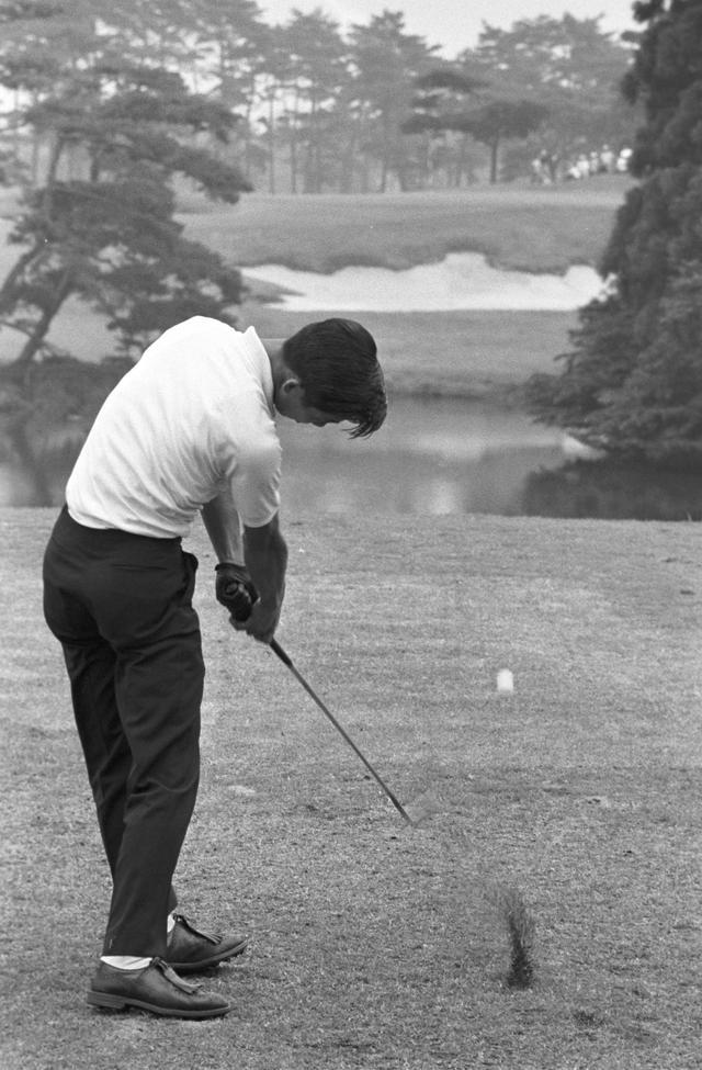 画像: 1965年全日本アマ選手権にて撮影。当時、中部は24歳