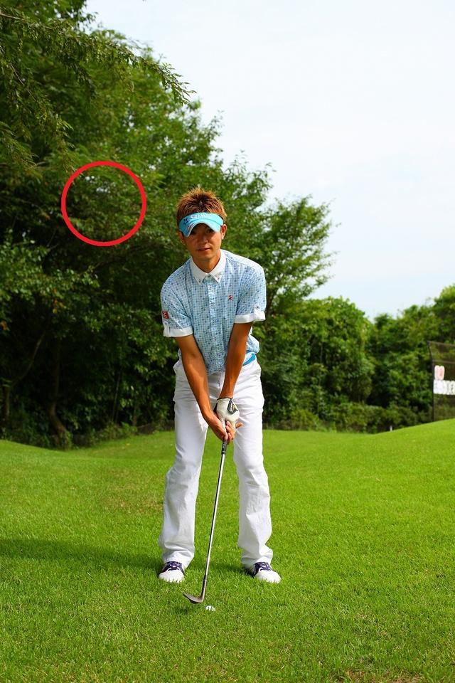 画像1: グリーン奥はザックリの名所!体の回転でボールを飛ばそう