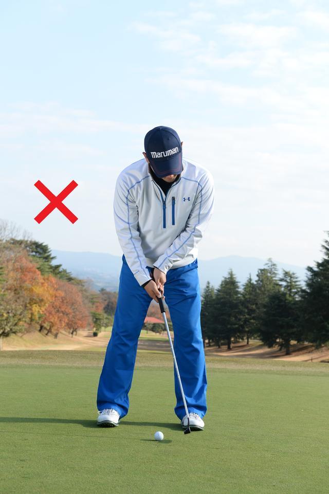 画像: 三角形が崩れると、真っすぐ打ち出すことはできない