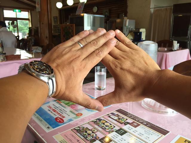 画像: ステップ3.手の三角形から目標物を交互の目で見る
