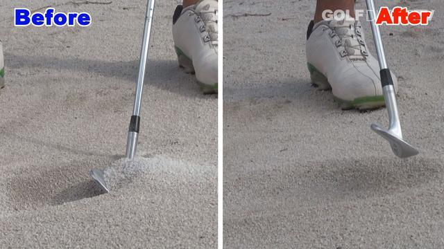 画像: POINT3 砂の量は板チョコ2枚分削り取ろう