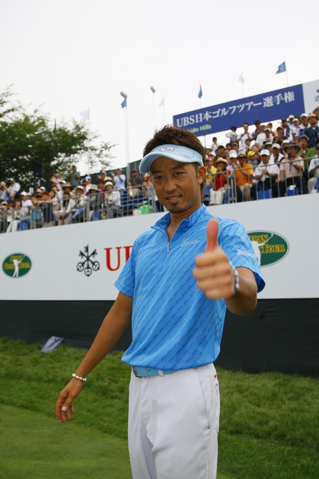 画像: 2008年「UBS日本ゴルフツアー選手権 宍戸ヒルズ」でメジャー初タイトルを獲得