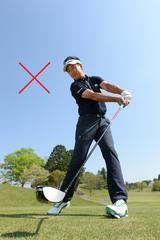 画像2: レベルブローには″リリース″が大事 右太もも前の球を打つイメージで振ろう