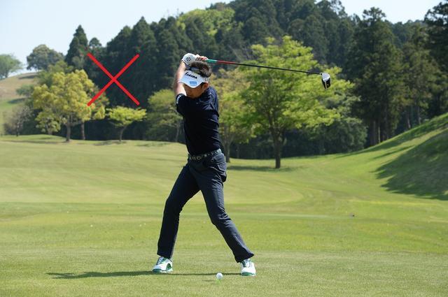 画像10: 高打ち出し、低スピンの″放物線″弾道『ドロ~ンボール』。ぶ厚い当たりになるには、ヘッドのトウを立ててみよう!
