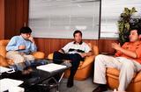 画像: 左から平山トレーナー、白石教授、富永プロ