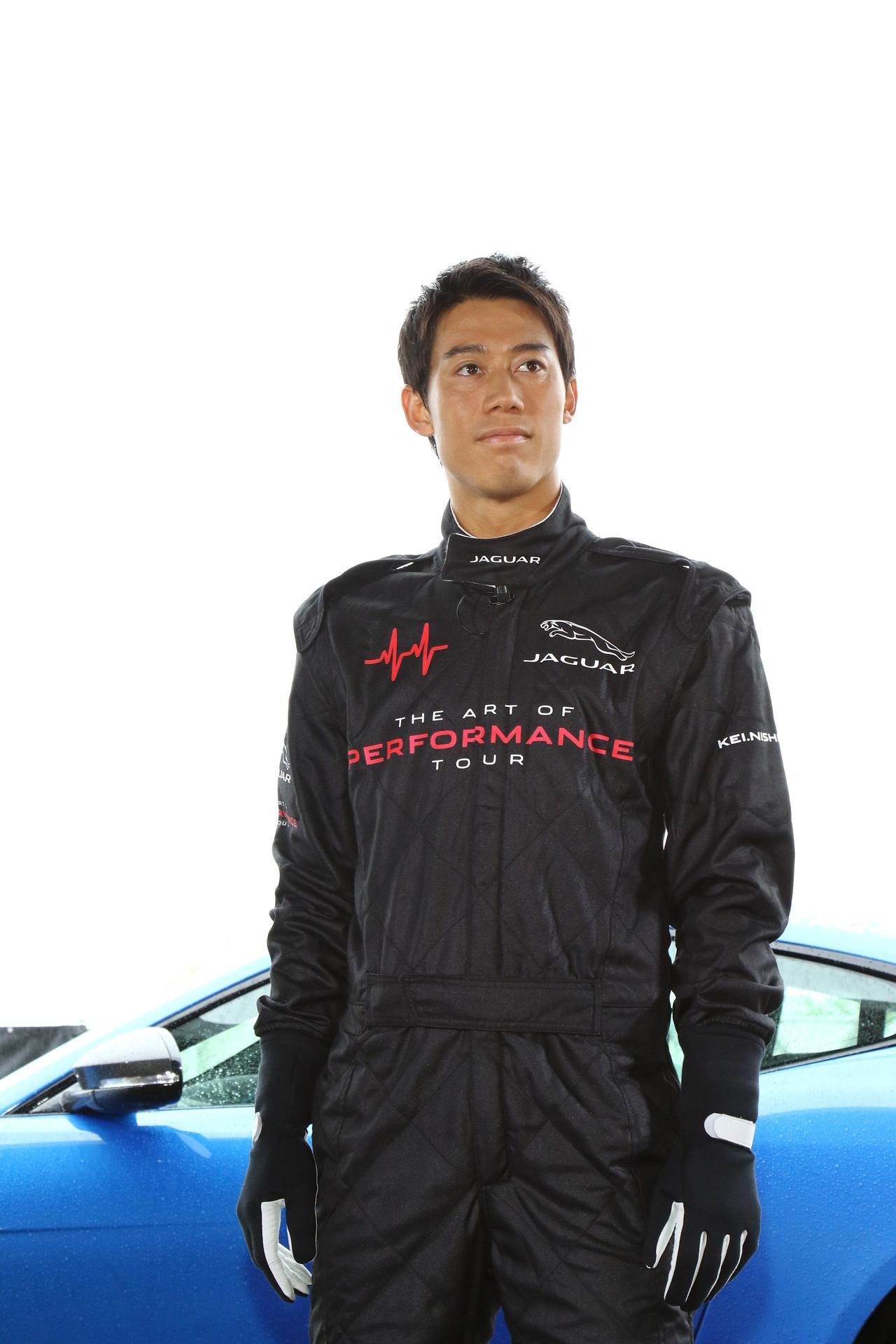 """画像3: 錦織圭くんがレーシングスーツ姿に?プロたちの""""車""""事情。"""