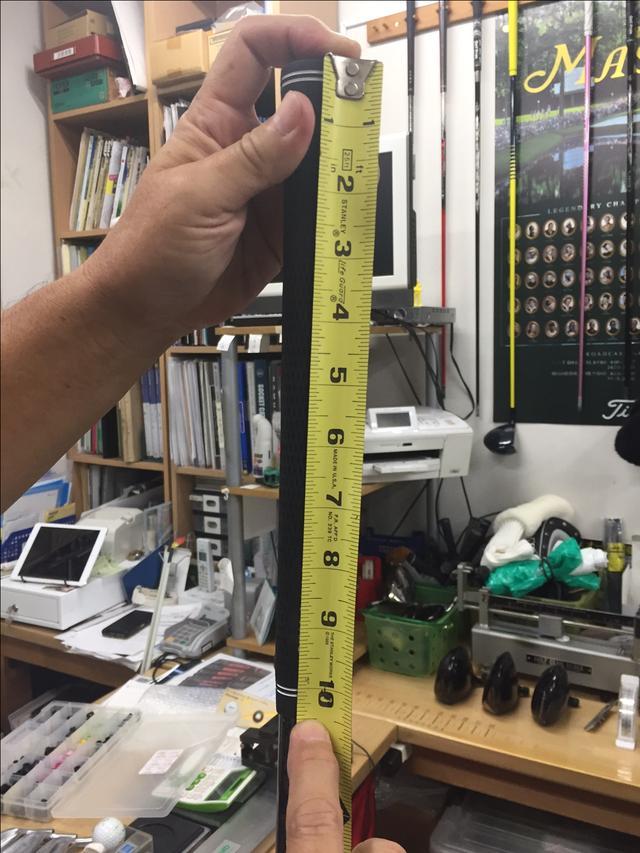 画像: グリップの長さ・重さを測っておこう