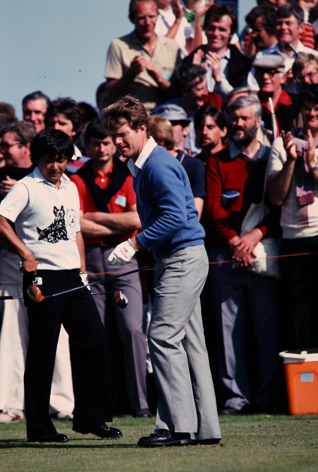 画像: 82年 全英オープン、トム・ワトソンと倉本昌弘