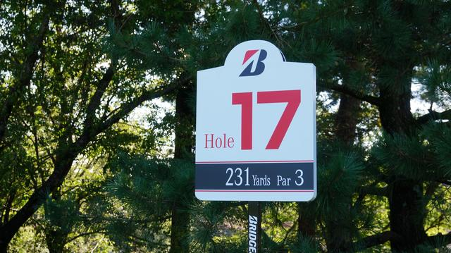 画像: 231yと距離のあるパー3の16番ホール