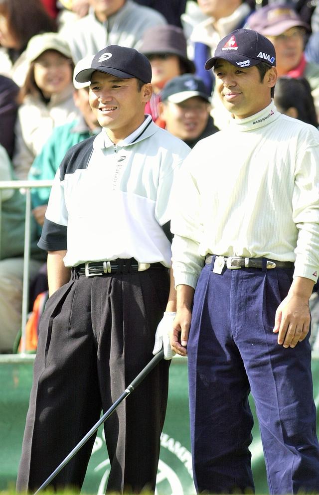 画像: 2001年 EMCワールドカップでの丸山(左)と伊澤(右)。翌年同じペアで優勝を果たす