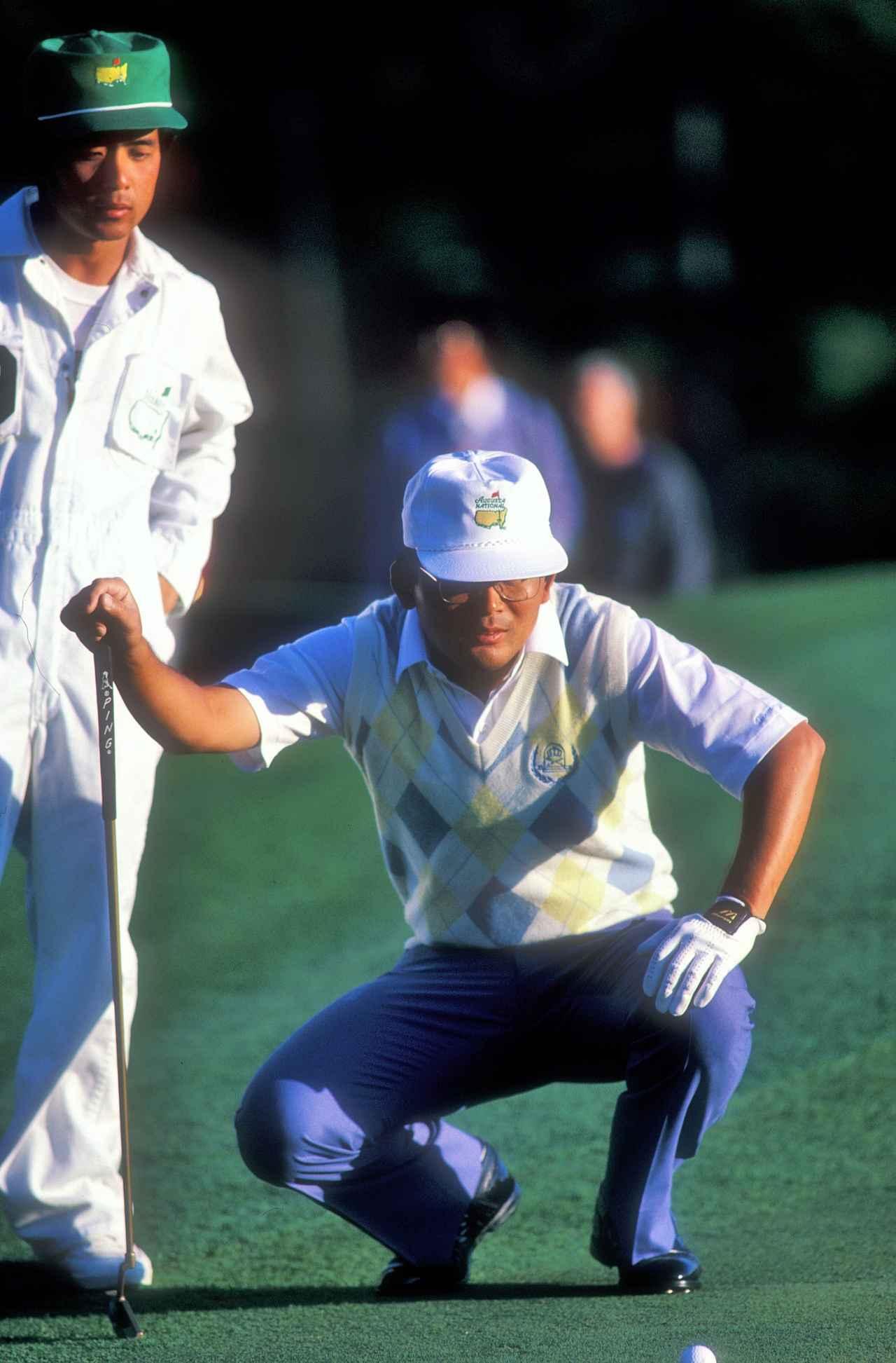 画像: 86年マスターズ。自己最高の8位タイでフィニッシュ