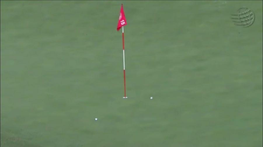 画像4: ラフから振り抜いた打球は、ピンそば1メートルに