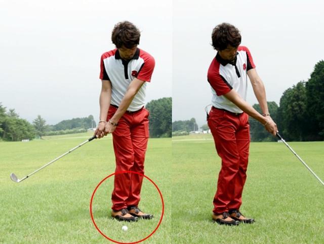 画像: このように、足先の向きだけ、極端にオープンにしてみよう