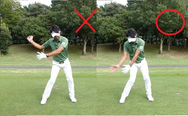 画像: 体の正面に腕をキープするために腕と体の同調が必要不可欠