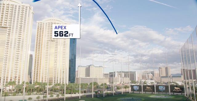 画像: APEXとは「最高到達点」の意。171メートルの高さまで、ボールは舞い上がった東京タワーのおよそ半分の高さ、といったところ www.youtube.com