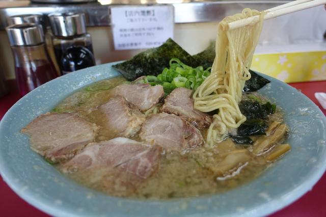 画像: どノーマルの麺、油の量、麺の硬さはこの感じ
