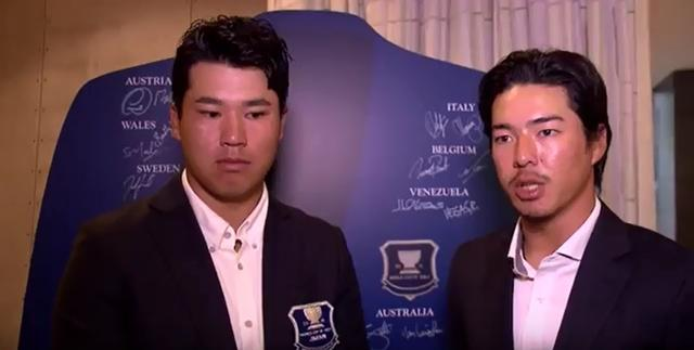 画像: インタビューに答える松山英樹(写真左)と石川遼(写真右)