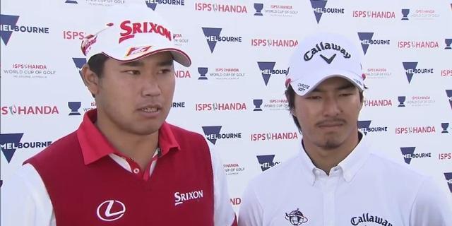 """画像: 【W杯】松山&石川インタビュー。明日につながる""""+1"""" - みんなのゴルフダイジェスト"""