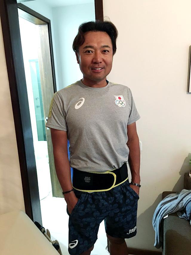 画像: 腰痛に苦しんでいるという片山プロが、リオ五輪にも持参したという