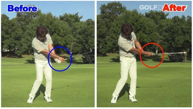 画像: 手首の角度をキープすることで、手首の使いすぎを防ぐ