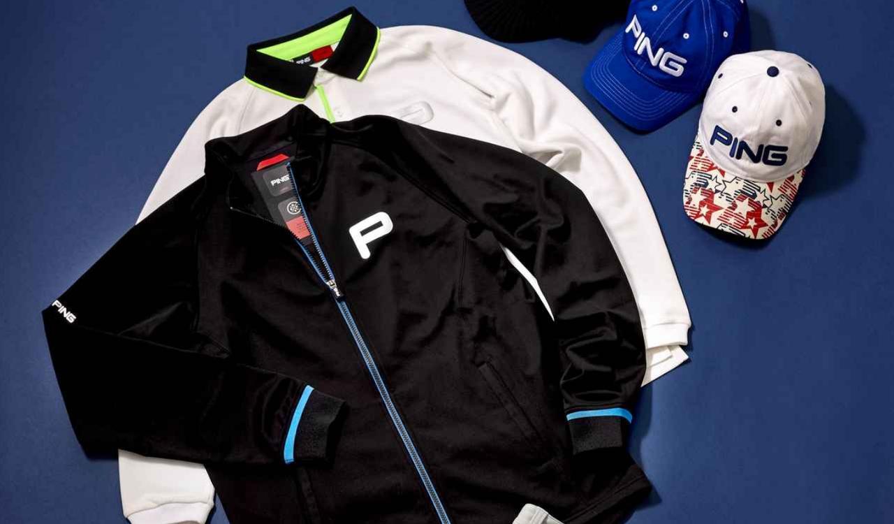 """画像: """"P""""のマークが洒落てるね。「ピンゴルフ」のウェア - みんなのゴルフダイジェスト"""