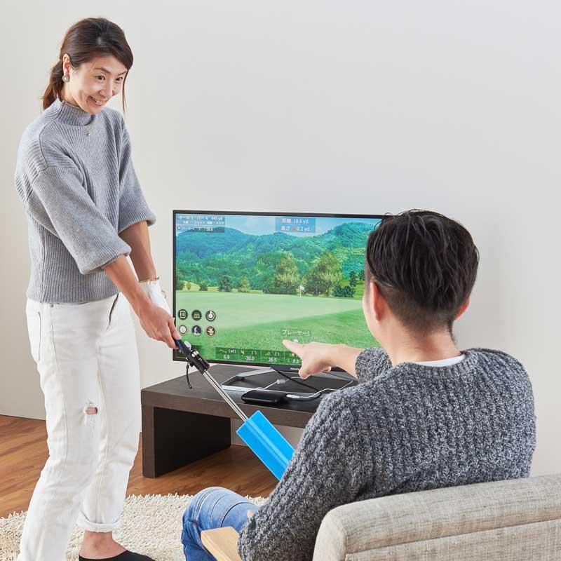 画像: テレビに接続!家庭用シミュレーションゴルフ JOY SWING(ジョイ スウィング)※動画公開 ゴルフダイジェスト公式通販サイト「ゴルフポケット」