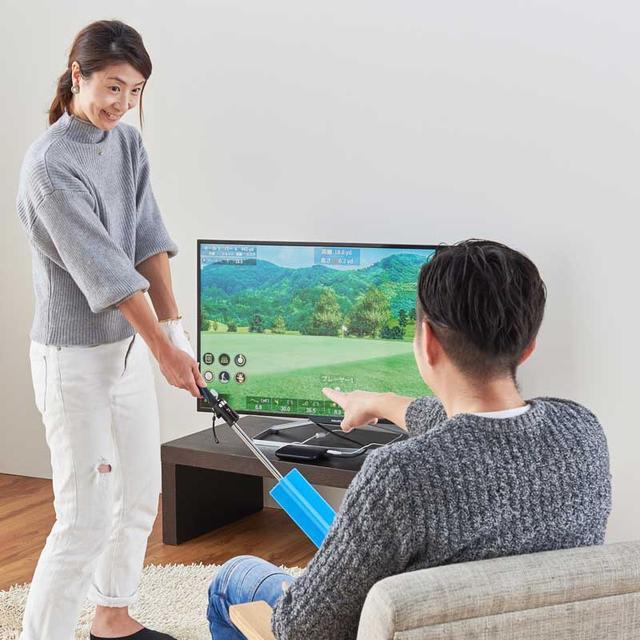 画像: テレビに接続!家庭用シミュレーションゴルフ JOY SWING(ジョイ スウィング)※動画公開|ゴルフダイジェスト公式通販サイト「ゴルフポケット」