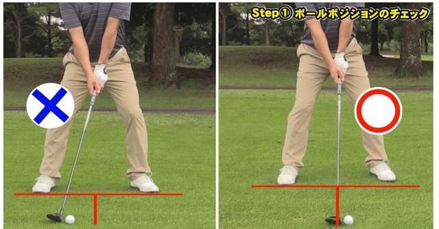 画像: ボールは体の正面よりもボール1個半左に置こう